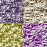 Set of stone blocks seamless generated textures Royalty Free Stock Images