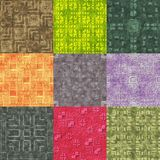 Set of stone pattern generated seamless textures Stock Images