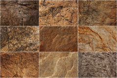 Set of stone surfaces of different colors Royalty Free Stock Images