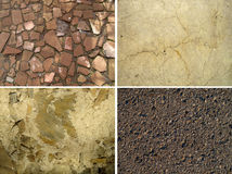 Set of stone textures Stock Image
