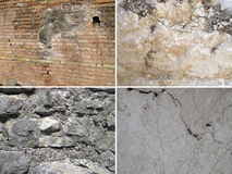 Set of stone textures Royalty Free Stock Image