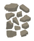 A set of stones cartoon Royalty Free Stock Image