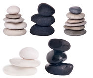 Set of stones isolated on white Royalty Free Stock Photography