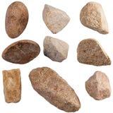 Set of stones isolated on white background. Royalty Free Stock Photography