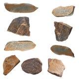 Set of stones isolated on white background. Stock Photos