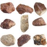Set of stones isolated on white background. Stock Images