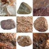 Set of stones isolated on white background. Royalty Free Stock Photos