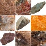 Set of stones isolated on white background. Royalty Free Stock Images