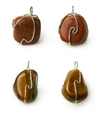 Set of stones pendants Stock Photography