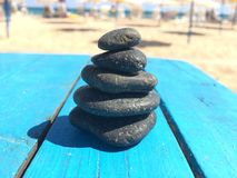 Set of stones put together to balance each other Royalty Free Stock Images