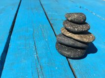 Set of stones put together to balance each other Royalty Free Stock Photography