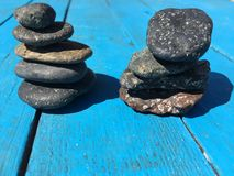 Set of stones put together to balance each other Royalty Free Stock Image