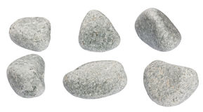 Set of stones of a round form are isolated Stock Image