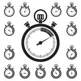 Set of stopwatch icons Royalty Free Stock Image