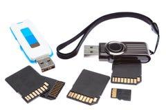 A set of storage memory. Royalty Free Stock Photos
