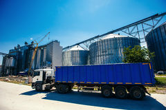 Set of storage tanks cultivated agricultural crops processing pl Stock Images