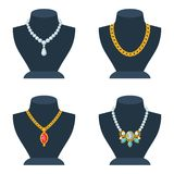 Set of store mannequins for jewelry shop Stock Image