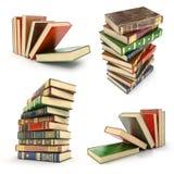 Set stos kolorowe książki ilustracji