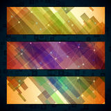 Set of straight lines abstract background Stock Images