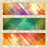 Set of straight lines abstract background Stock Photography