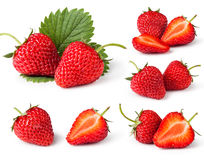 Set of Strawberries Royalty Free Stock Image