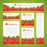 Set of Strawberry Banners Royalty Free Stock Photos