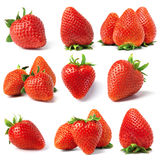 Set from strawberry. Berries. isolated on white Royalty Free Stock Photography