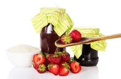 Set for strawberry jam Stock Image