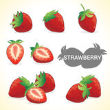 Set of strawberry in various styles vector format Royalty Free Stock Photos