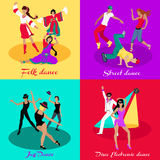 Set Street Folk Dance Jazz and Disco Stock Images