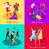 Set Street Folk Dance Jazz and Disco Stock Images
