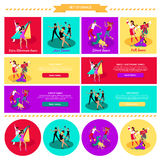 Set Street Folk Dance Jazz and Disco Stock Photos