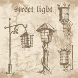 Set of street lamp Stock Images