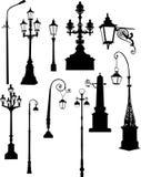 Set of street lamps Stock Image