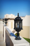 Set of street lantern in old style Architectural e Royalty Free Stock Images