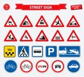 Set of street sign vector illustration