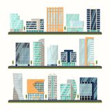 Buildings or skyscrapers, houses exterior view Stock Photo