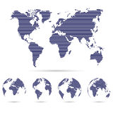 Set of strip world maps ,education and business background conce Stock Photos