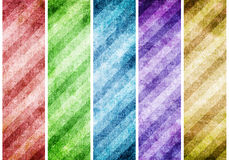 Set of Striped abstract background Style Vintage pattern Stock Photos
