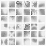 Set of striped abstract forms Royalty Free Stock Photo