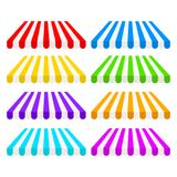 Set of striped awnings tent for shop design, stock vector illustration royalty free illustration