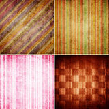 Set of Striped background Style retro pattern Royalty Free Stock Image