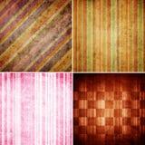 Set of Striped background Style retro pattern Royalty Free Stock Image