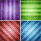 Set of Striped background Style retro pattern.  Stock Photos