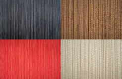 Set of striped backgrounds. Textile wallpaper texture Royalty Free Stock Photo