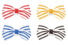Set of Striped bows. Vector illustration Stock Photography