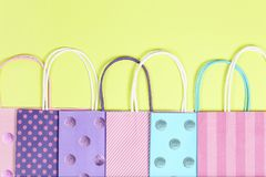 Shopping bags collection Royalty Free Stock Photography