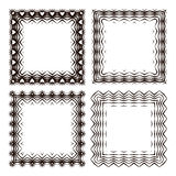 Set of striped frames (one with hearts), in vector.  Royalty Free Stock Photo