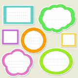 Set of striped paper speech bubbles Royalty Free Stock Images