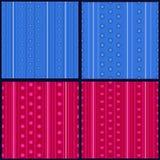 Set of striped patterns vector illustration